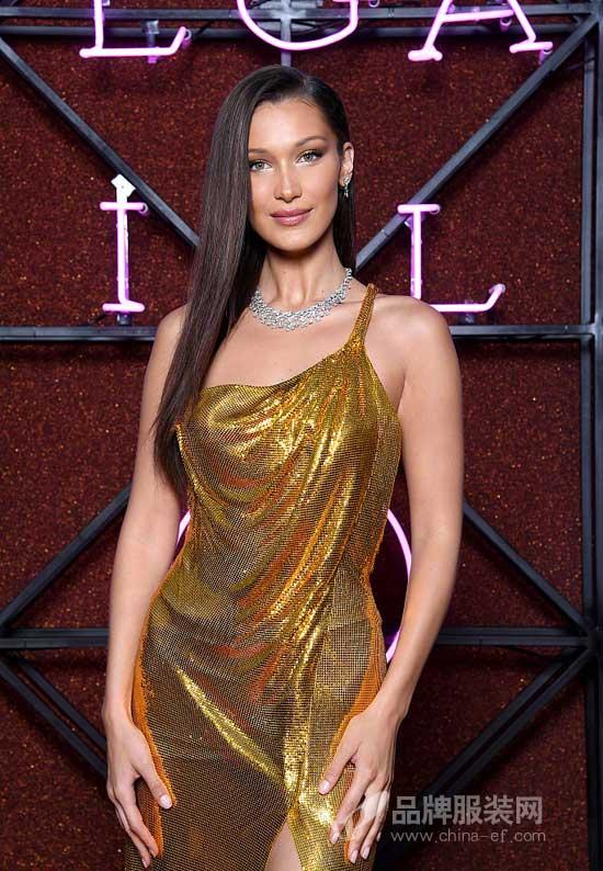 舒淇盛Bella Hadid装出席宝格丽品牌晚宴