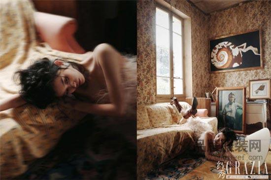 超模奚梦瑶登《红秀》封面大片 演绎多种不同的艺术造型