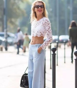 阔腿裤加上这一搭配 时髦性感修身全都有了!