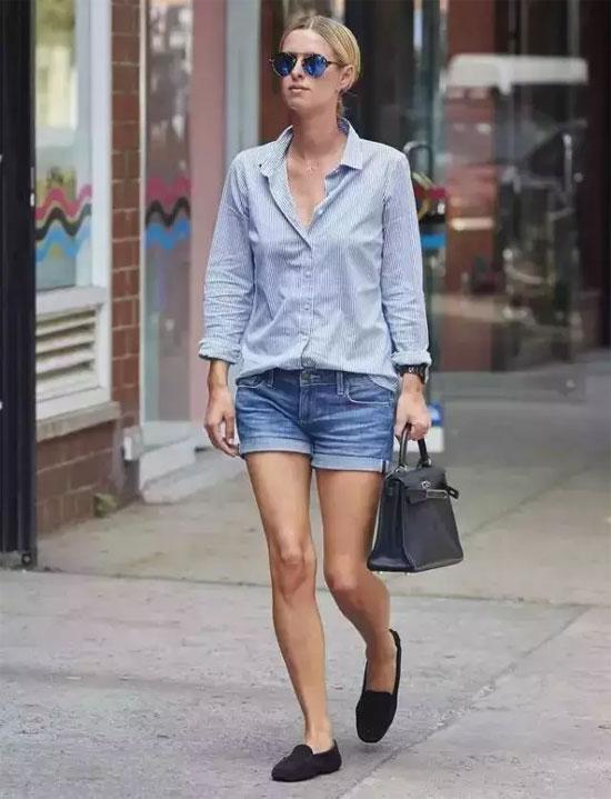 短裤千万别乱穿 很土 要穿就穿牛仔时髦一点!