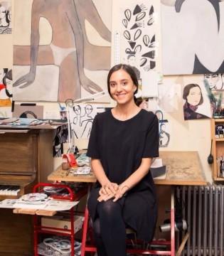 Kelly Beeman给LOEWE、Dior画时装插画