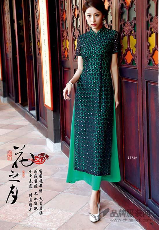 中国风再度来袭 唐雅阁旗袍再现古典韵味