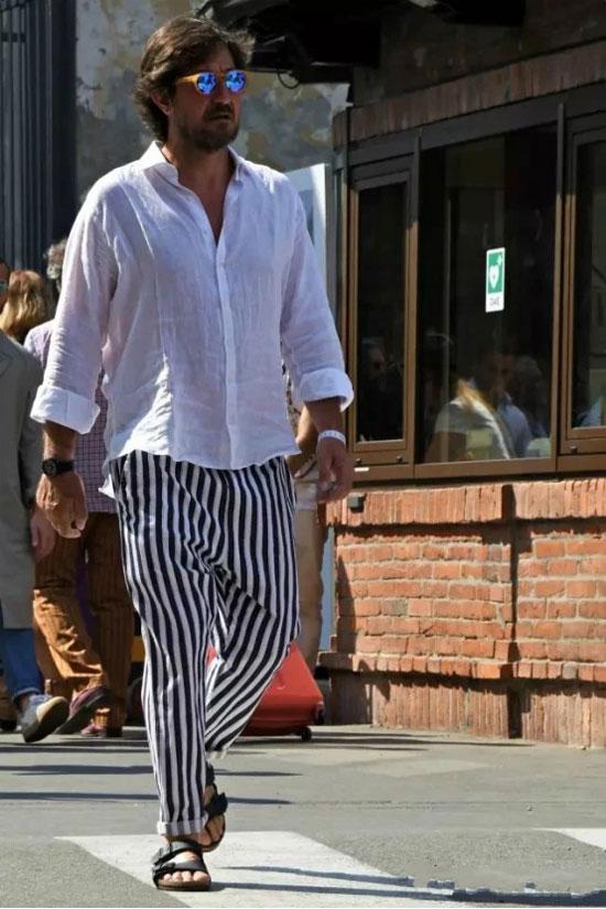 新申亚麻大师 | 会穿亚麻白衬衫的男人