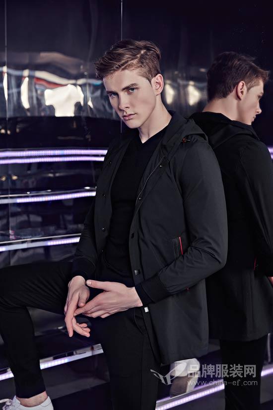 爱迪丹顿2018秋冬新款 黑色与型男魅力更搭