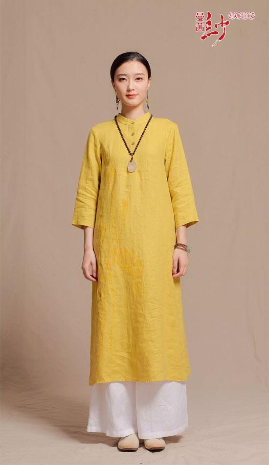 曼茜纱女装2018秋装新品上市――柠檬黄