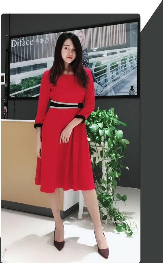 Diface丹菲诗品牌服饰 秋季红色衣橱
