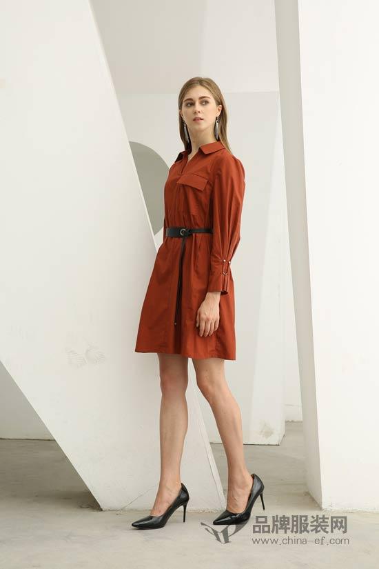 欧米�q连衣裙简约好看提气质 冬天也能做个小仙女
