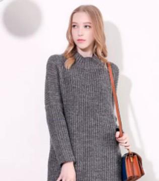 莎斯莱思时尚女装 简约舒适的针织裙 这样穿更显瘦!