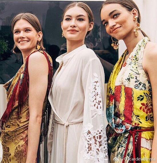 纽约时装品牌Oscar de la Renta 2019秋冬时装秀细节