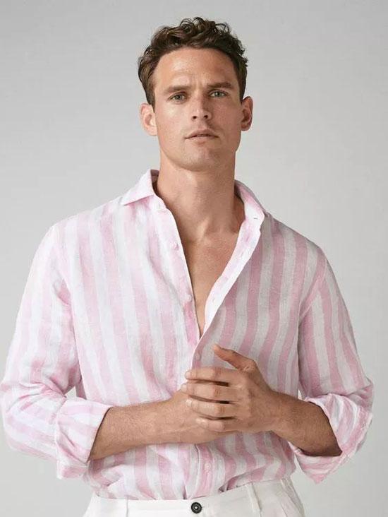 新申亚麻大师 | 亚麻条纹衬衫 清爽时髦过假期