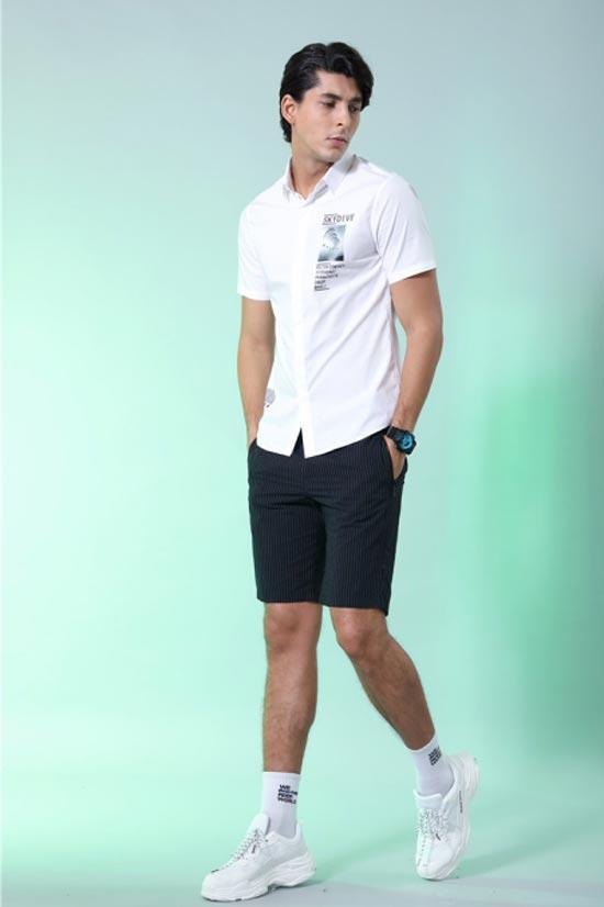 莎斯莱思时尚男装 用衬衫当外套 时髦得刚刚好!