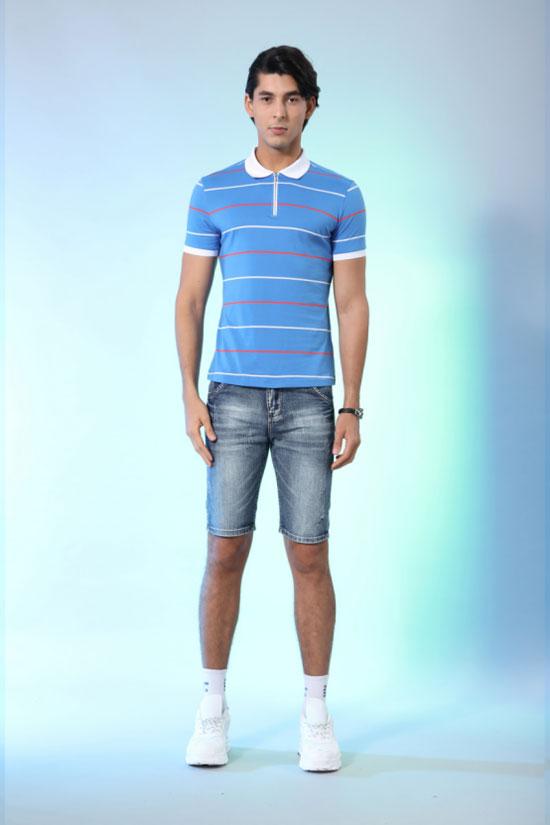 Saslax莎斯莱思流行男装 穿条纹的男孩  我们正青春!