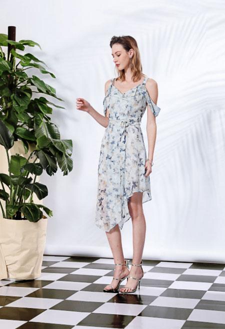 莎斯莱思时尚女装 浪漫印花裙 惊艳整个夏日!