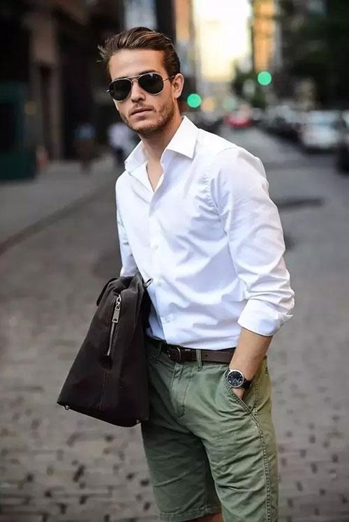 Saslax白�r衫太有型了 �@��夏天穿上白�r衫 你就�A了!