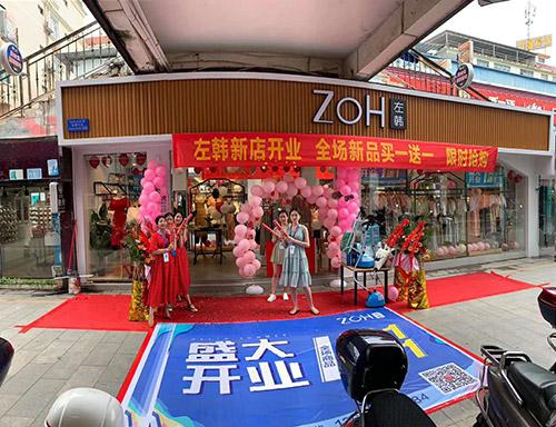 热烈祝贺左韩女装于7月8日在百色广州街盛大开业!