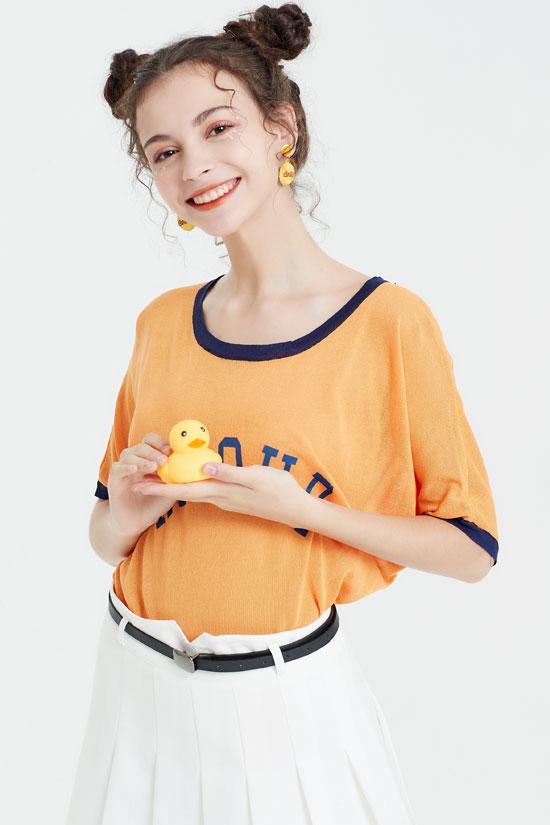 艾丽莎女装品牌 夏日与淡橙色打造俏皮的你