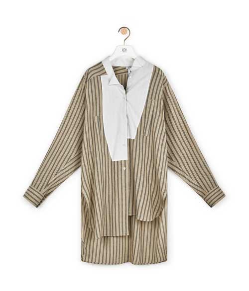 罗意威奢饰品品牌 Long Stripe Asym Shirt新款上市