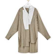 罗意威奢饰品北京福彩3D开奖 Long Stripe Asym Shirt新款上市