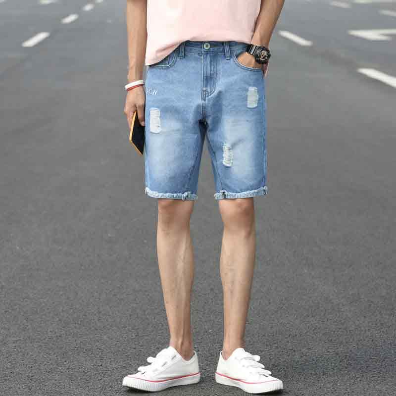 虹春廷 男式破洞牛仔裤 不只是潮流