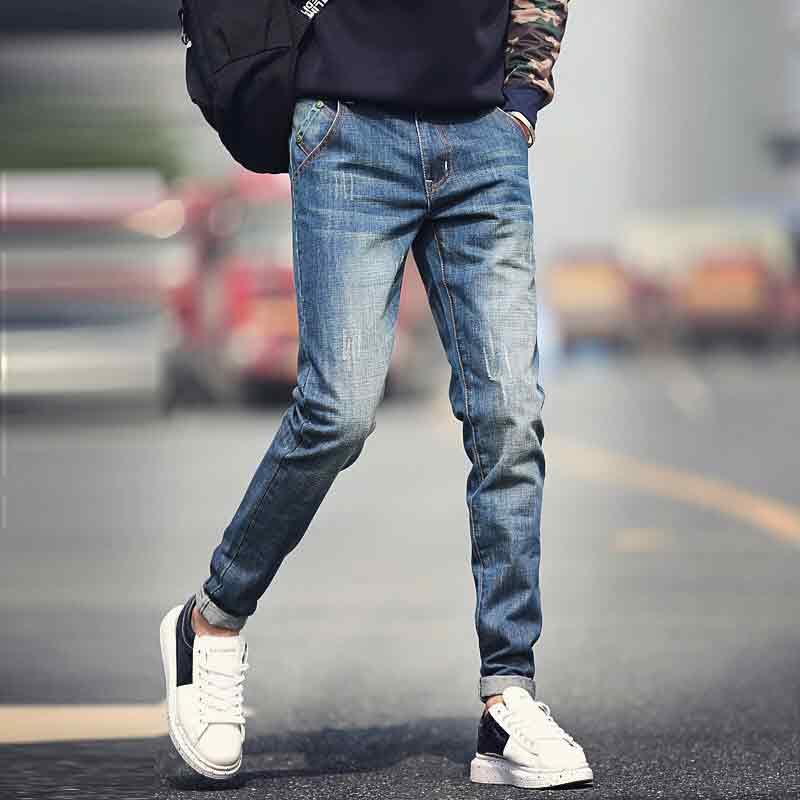 虹春廷 男式牛仔裤穿的不是材料而是效果
