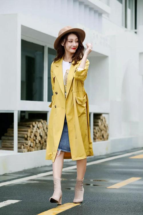 秋叶黄 甜美优雅又吸睛 精选舒适面料