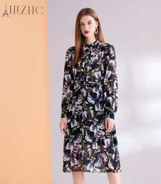 艾丽哲气质印花裙 将你的身材完美呈现
