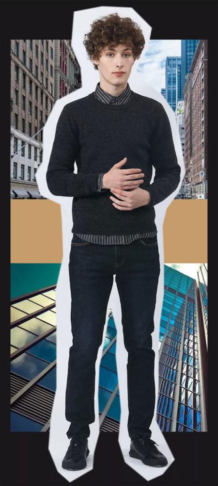 莎斯莱思男装 纯色毛衣从未退流行 一直是炙热单品!