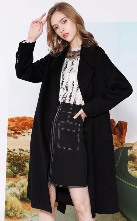 莎斯莱思女装:双面呢大衣相伴的女人 必成为一道风景