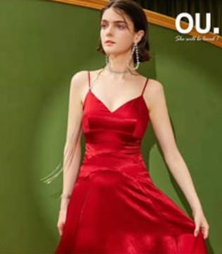 OU.2020春装上新 年会小红裙 你备好了吗?