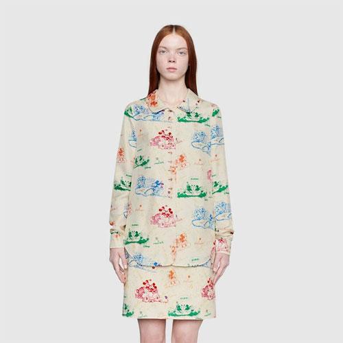 Gucci2020春夏款衬衫 演绎迪士尼经典形象!