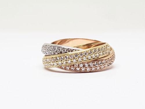 卡地亚黄金戒指 奢华与优雅完美诠释!