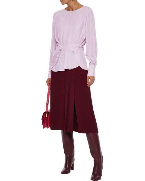 春季衬衫的选择  端庄优雅的紫色更时尚迷人!