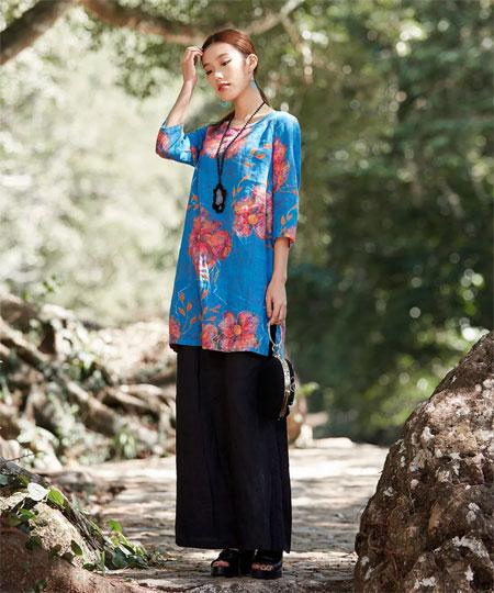曼茜纱:穿上棉麻美衣 去拥抱夏季吧