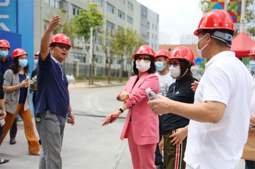 影儿集团诗恩时尚创意厂区举行封顶仪式