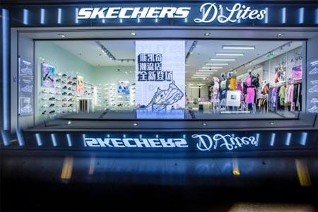 强势而来 斯凯奇在上海一日之内双店齐开