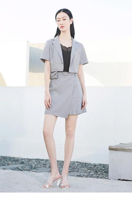 又美又飒的西装裙 轻松秒变大长腿