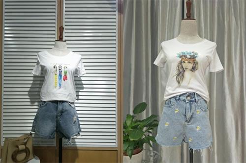 EI.女装T恤世界:厂家生产 色彩丰富 版型多!