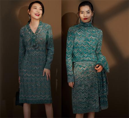 时尚大片级别的穿搭 俏帛秋装成全你的知性优雅