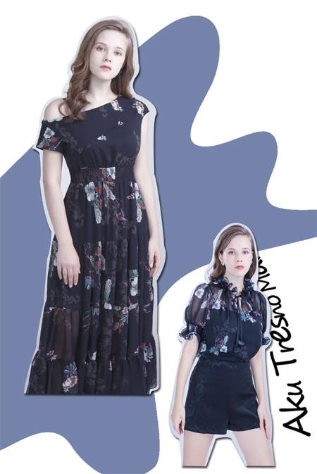 POSSNEY保时霓 以花之名 连衣裙为声