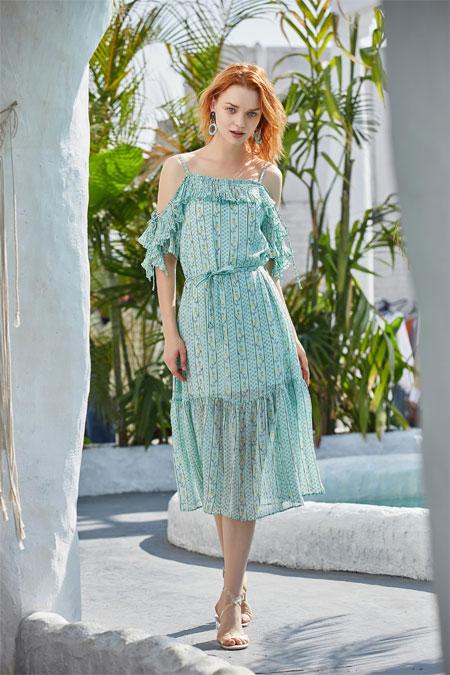 夏季的女孩儿 戈蔓婷连衣裙教你变美