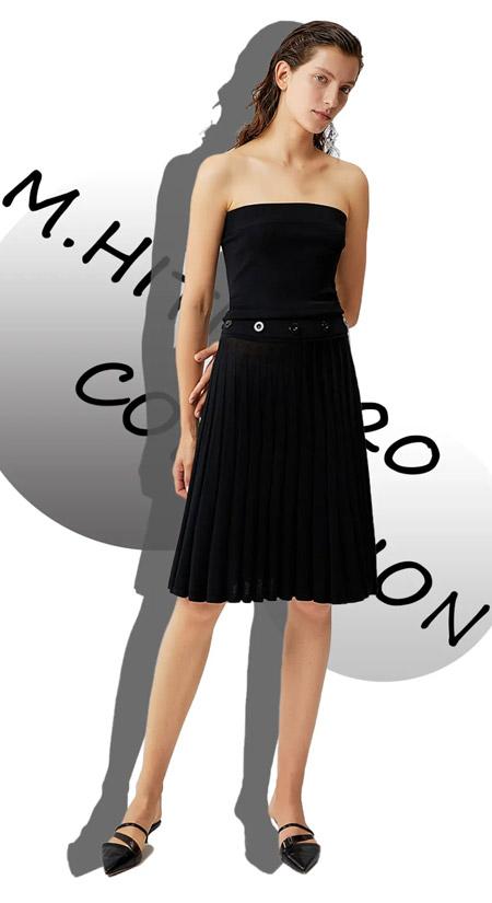对腿型不满意的女人 总能在半裙里找到属于自己的曼妙