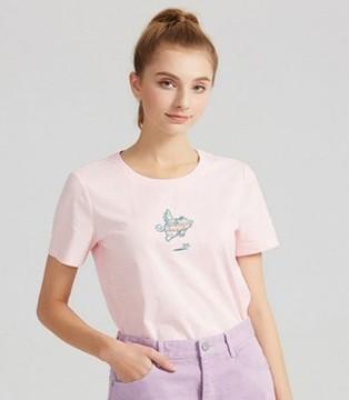 穿上爱弗瑞粉嫩T恤 甜酷少女请你吃冰淇淋