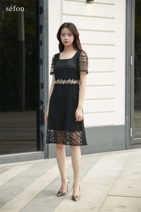 Sefon2020春夏小黑裙 演绎黑色神秘优雅