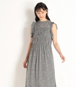 SNIDEL:夏日新品 褶皱波点连衣裙