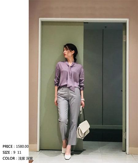 22 OCTOBRE新品上市 紫色展现舒适大方的气质