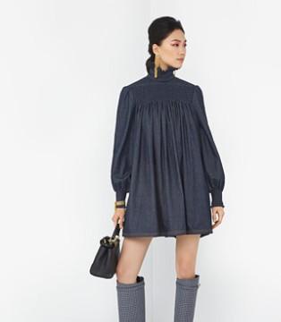 Fendi早秋蓝色连衣裙系列 高级奢华 巨赏心悦目