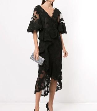 轻婚纱蕾丝晚礼服系列 Marchesa时装高级且古怪时尚
