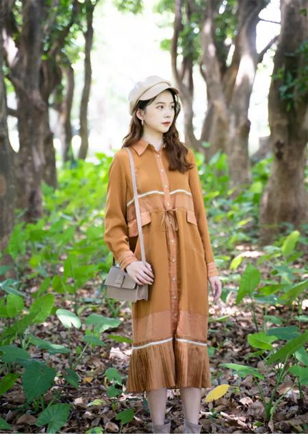 薇薇希文艺女孩的秋天 美得如同画卷般动人