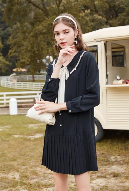 早秋法式轻熟连衣裙  春美多展现你的优雅气质