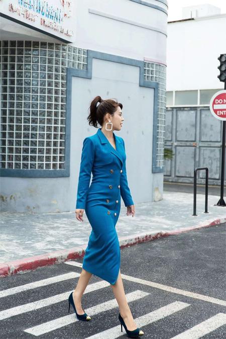 气质女神养成记 林静茜演绎都市职场优雅